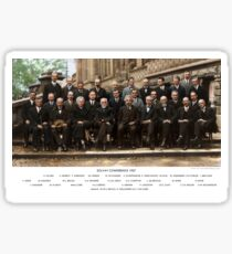 Colorized - Solvay Conference 1927. Einstein, Curie, Bohr and more. Sticker