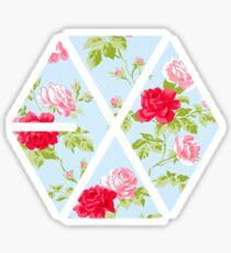 Pegatina EXO - Floral azul