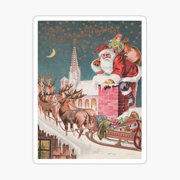 Santa Clause at the Chimney Sticker