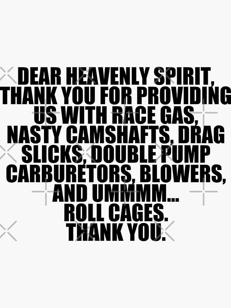Estimado espíritu celestial ... porque el coche de carreras de TswizzleEG