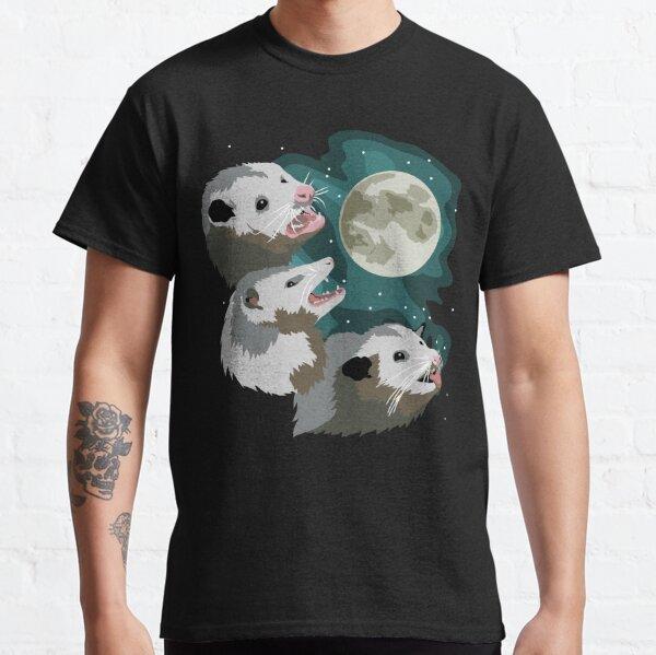 Three Possum Moon - Three Wolf Moon Parody Opossum Design Classic T-Shirt