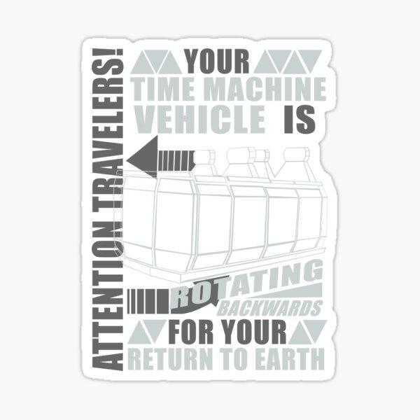Time Travel Backwards Sticker