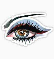 Blaues Auge mit Make-up Sticker