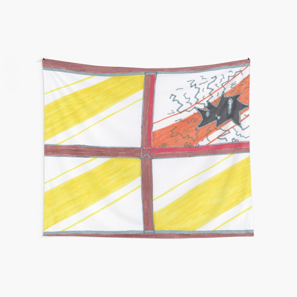 Merch #20 -- Wrecked Window - Pane Pain Wall Tapestry
