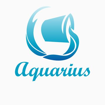 Aquarius Air Sign Graphic Zodiac Birthday Gift Idea Horoscope Design by orangepieces