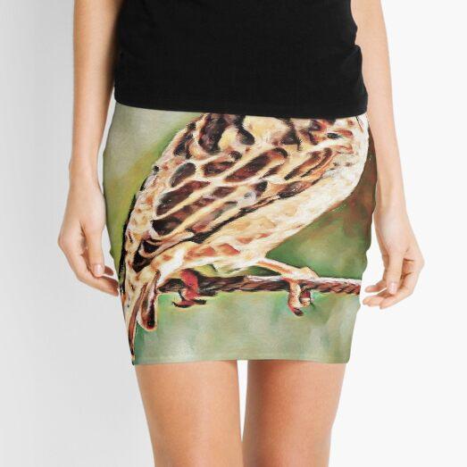 Rock Sparrow Glory | Painting  Mini Skirt