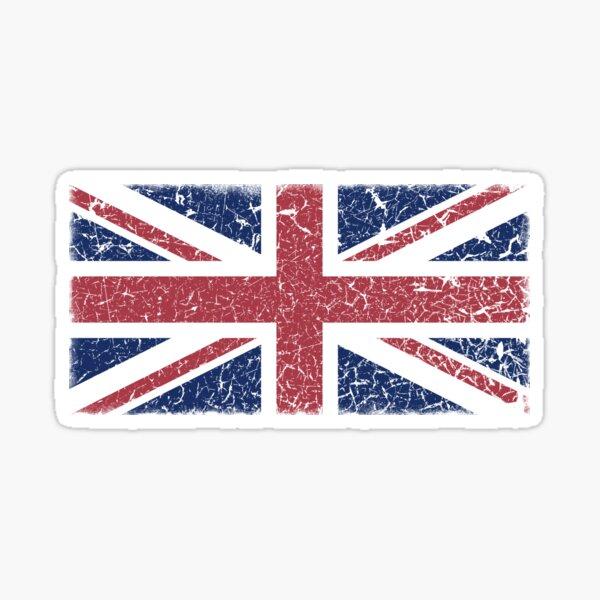 Vintage look Union Jack Flag of Great Britain Sticker