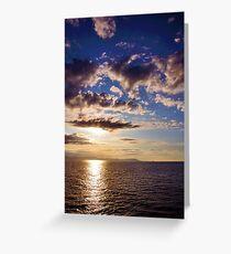 Sunrise, Mediterranean Sea Greeting Card