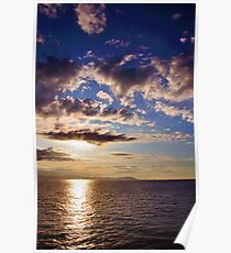 Sunrise, Mediterranean Sea Poster