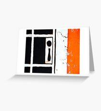 Knob & Key Hole Greeting Card