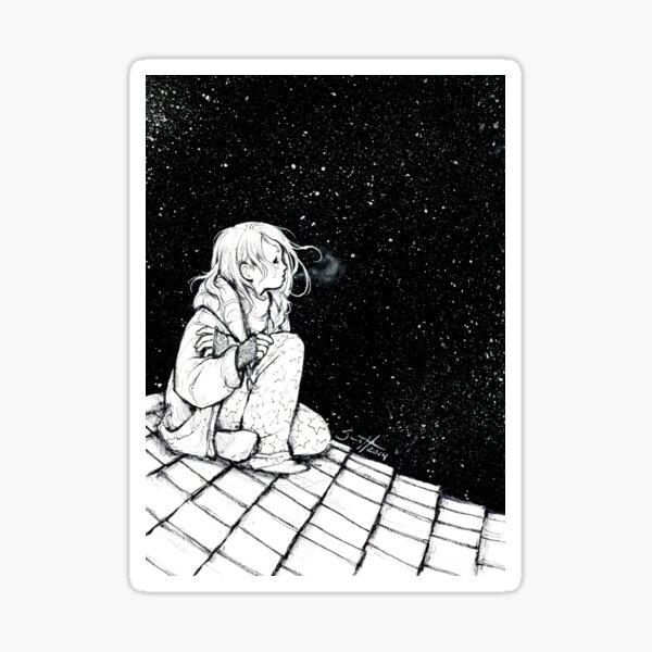 Star Gazing Sticker
