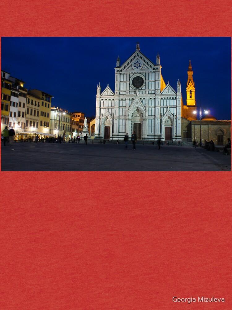 Blue Hour - Santa Croce Church in Florence, Italy by GeorgiaM
