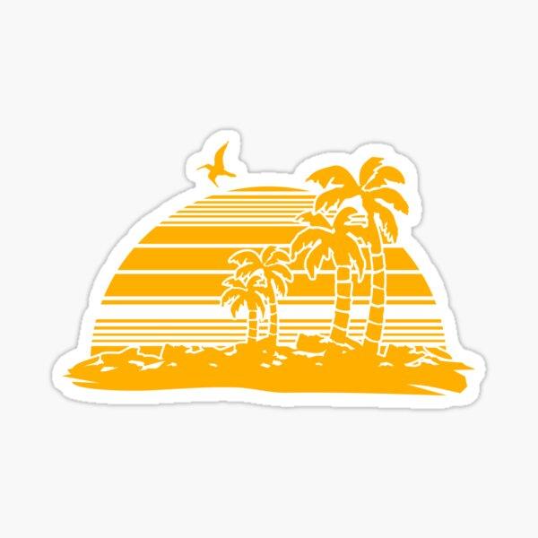 Sonnenuntergang am Strand Sticker