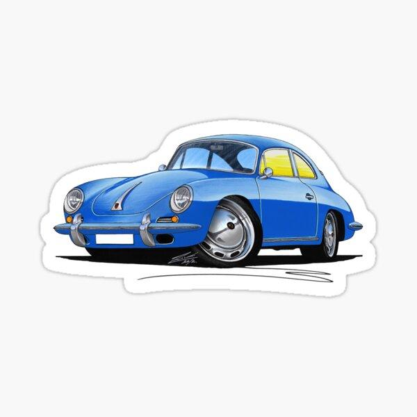 Porsche 356 C Blue Sticker