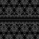 Floral Lace, Gray on Black by Etakeh