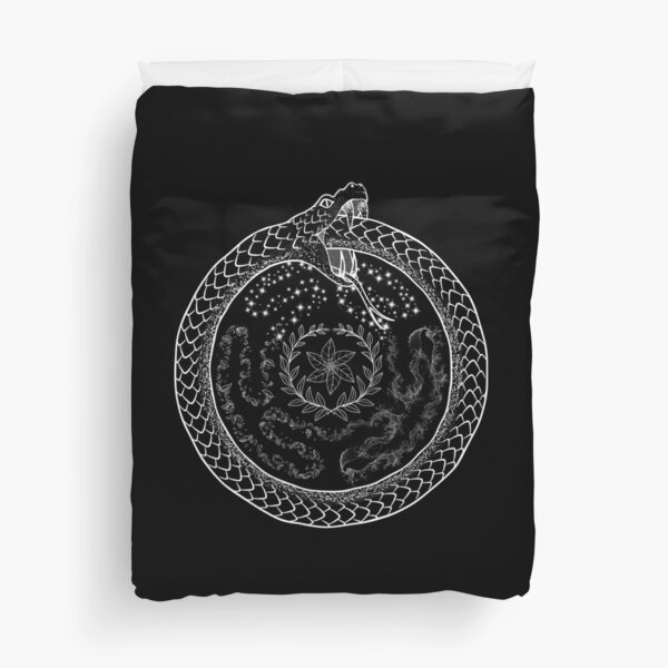 Hekate Wheel Hecate Strophalos Ouroboros Pagan Witch Duvet Cover