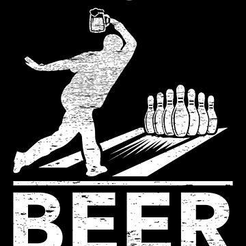 Here For The Beer Funny Bowling Bowler Player Gift by NiceTeee