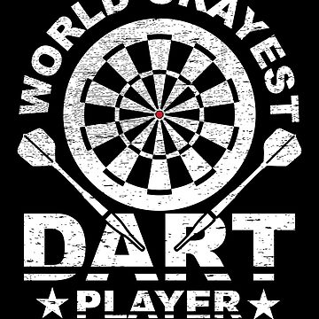 World Okayest Dart Player Funny Dart Gift by NiceTeee