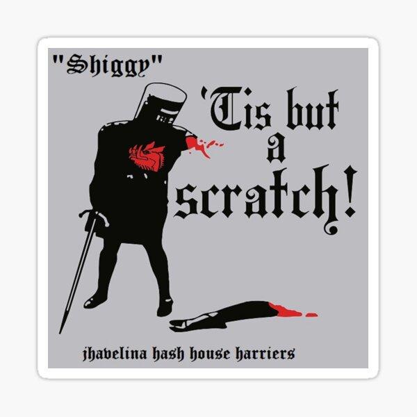 """Monty Python Funny Black Knight Tis But A Scratch Comedy Parody 2"""" Sticker"""