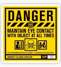 SCP 173 Warning Sign Sticker