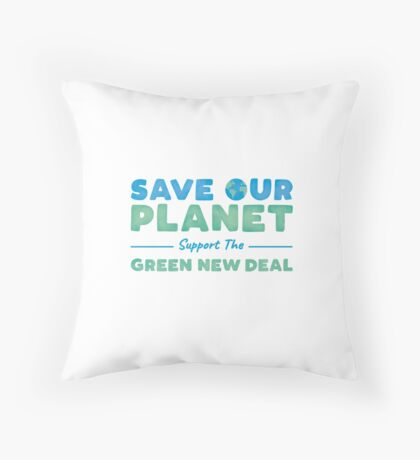 Climate Change - Support the Green New Deal Floor Pillow