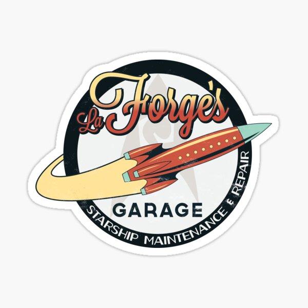 La Forge's Garage Sticker