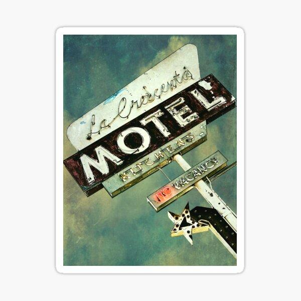 La Crescenta Vintage Motel Zeichen Sticker
