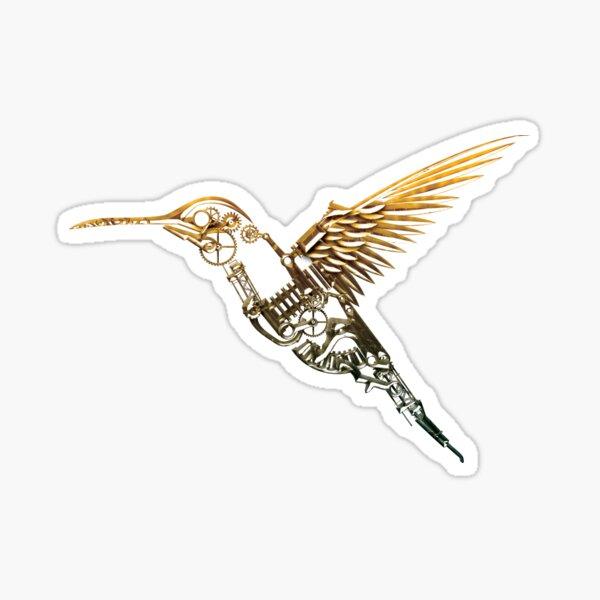 Steampunk Humming Bird Sticker