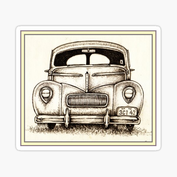 '42 Willys Americar Coupe Sticker
