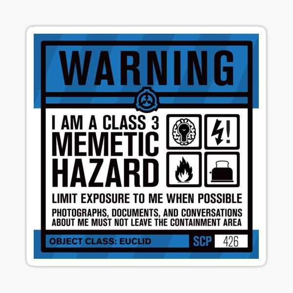 SCP 426 Warning Sign Sticker