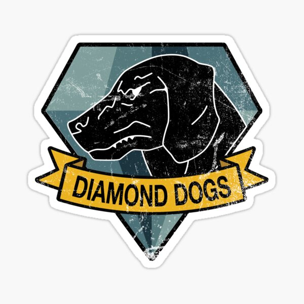 MGS - DIAMOND DOGS Logo Sticker