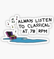 Calvin's Classical Taste Sticker