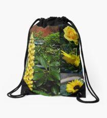 Frühlings- und Sommerblumen-Collage Turnbeutel