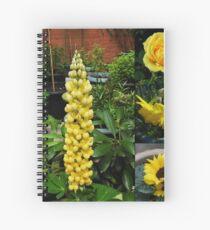 Frühlings- und Sommerblumen-Collage Spiralblock
