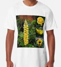 Frühlings- und Sommerblumen-Collage Longshirt