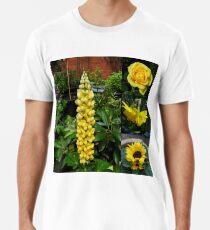 Frühlings- und Sommerblumen-Collage Premium T-Shirt