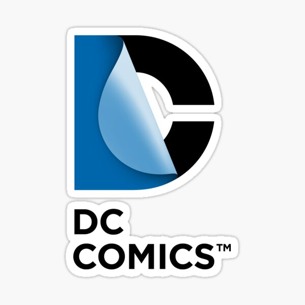 Logotipo de DC Comics New Pegatina