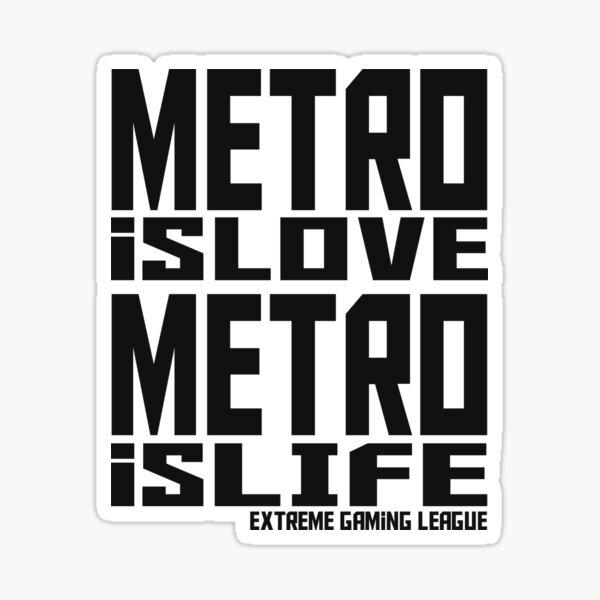 Metro c'est l'amour, Metro c'est la vie Sticker