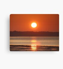 sunset over West Cowes Canvas Print