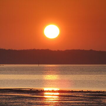 sunset over West Cowes by barnsleysteve