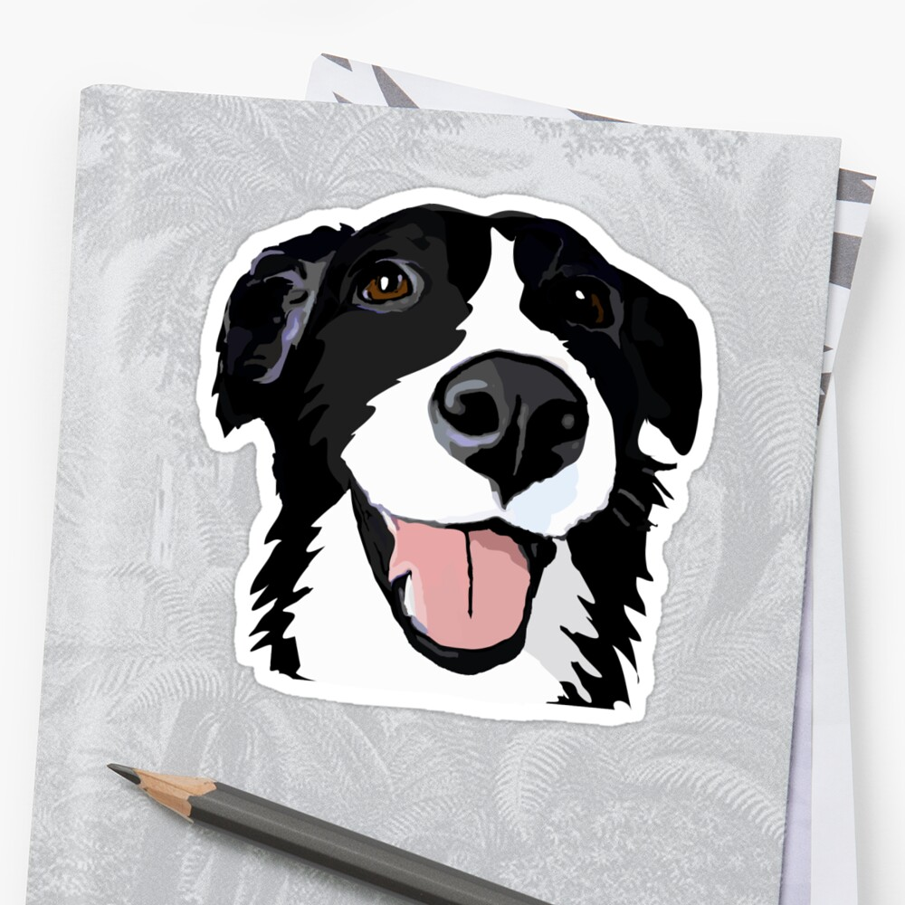 Smiley collie Pegatina