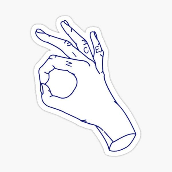 nice hands Sticker