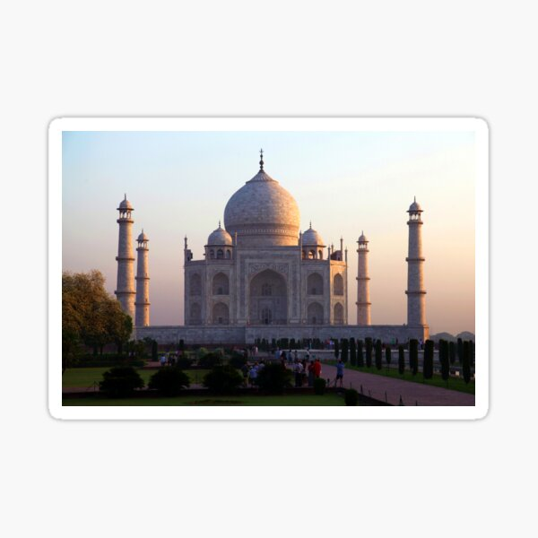 The Taj Mahal at sunrise. Sticker