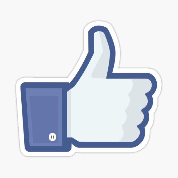Facebook 'like' button Sticker