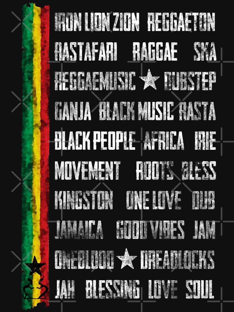 Reggae Bibel - dein neues Raggae-Shirt, der Festivalsommer kann kommen! von Periartwork