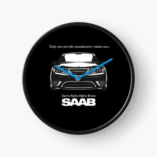 SAAB - Sierra Alpha Alpha Bravo en noir Horloge
