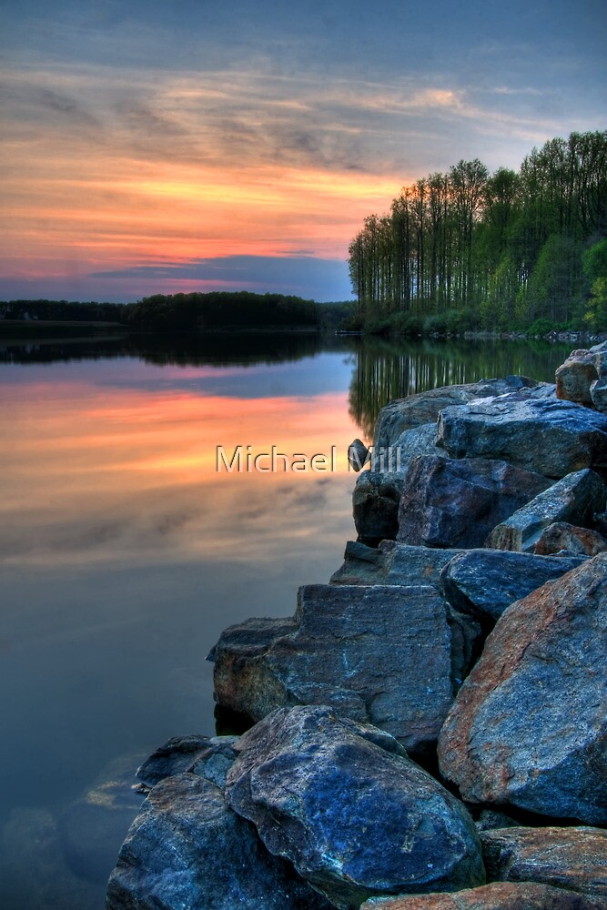 Shoreline Sunset by Michael Mill