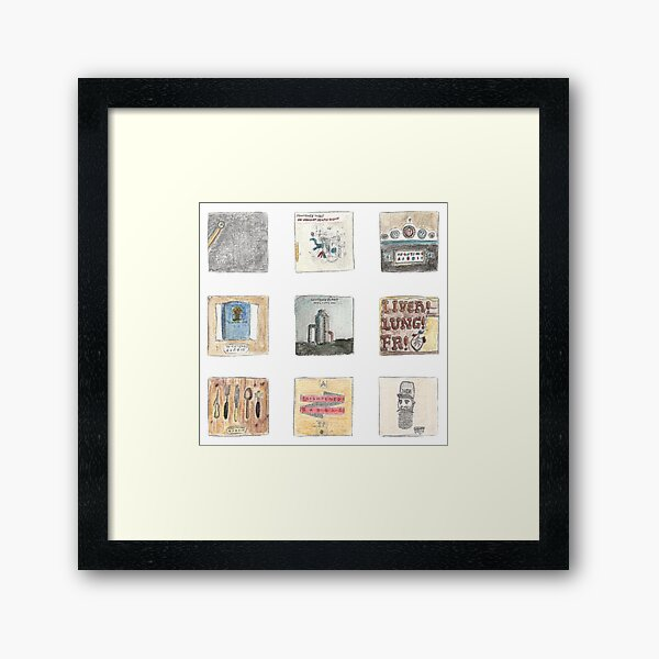 Watercolour albums - Frightened Rabbit Framed Art Print