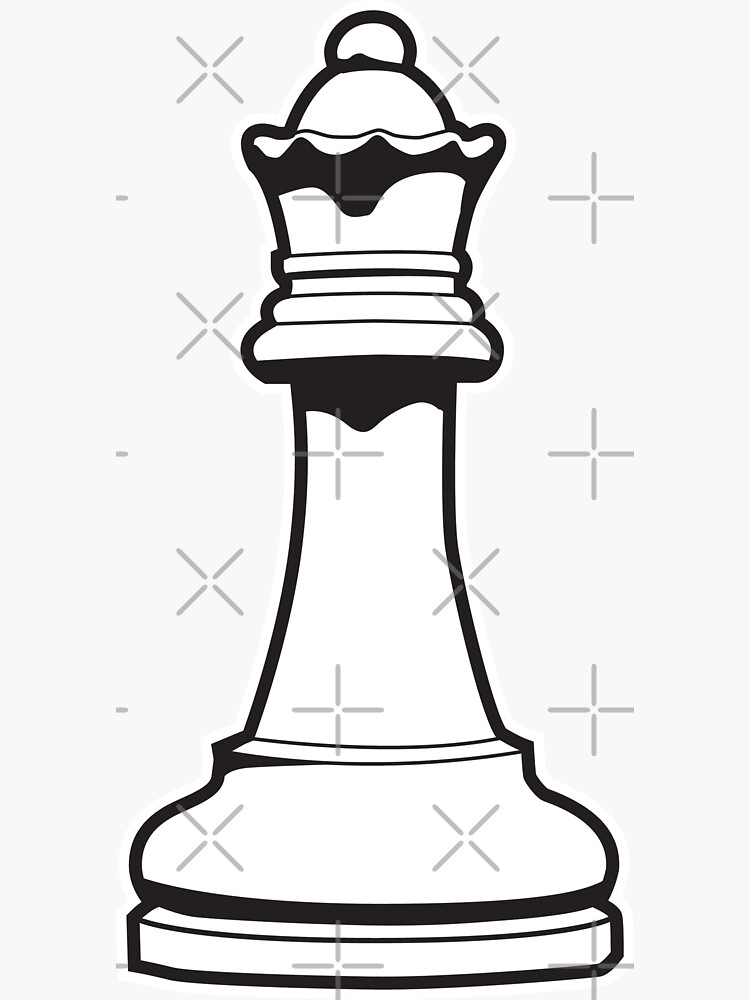 Queen Chess Piece by DetourShirts