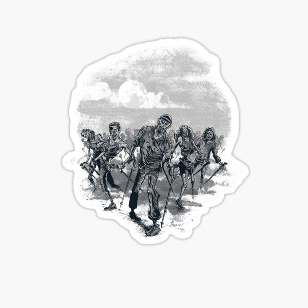the nordic walking dead Sticker